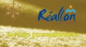 Réallon forfaits promo